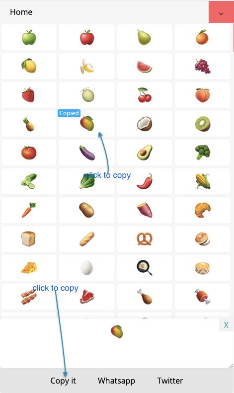 How to Copy 🍔 Food Symbols?