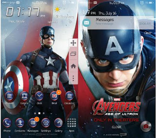 Tema Captain America for Samsung J2