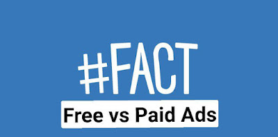 Free ads versus paid ads graphic logo which one is better