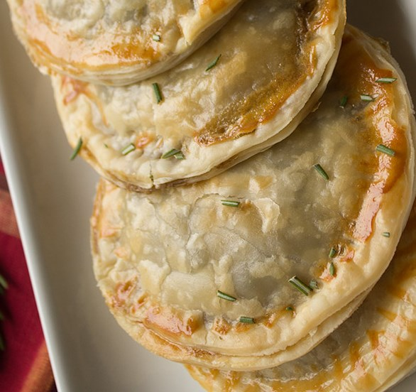 Savory Mushroom Turnovers #vegetarian #appetizer