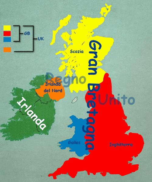 Immagini Della Cartina Del Regno Unito.Differenza Tra Inghilterra Gran Bretagna E Regno Unito Imparare Facile