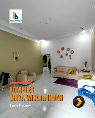 Ruang Tamu Rumah Second Cantik Halaman Luas di Komplek Griya Wisata Indah Jl Karya Wisata Ujung Medan Johor