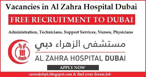 Vacancies in Al Zahra Hospital Dubai