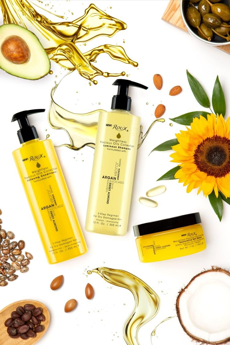 Roux® Weightless Precious Oils Hair Care Collection full of good oils!