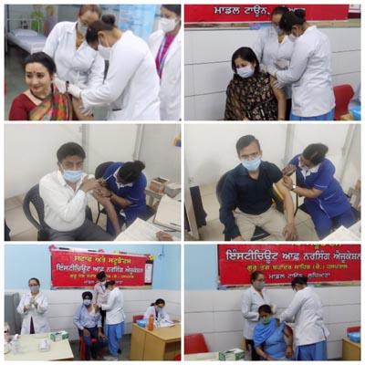 Vaccination Drive at Sat Paul Mittal School
