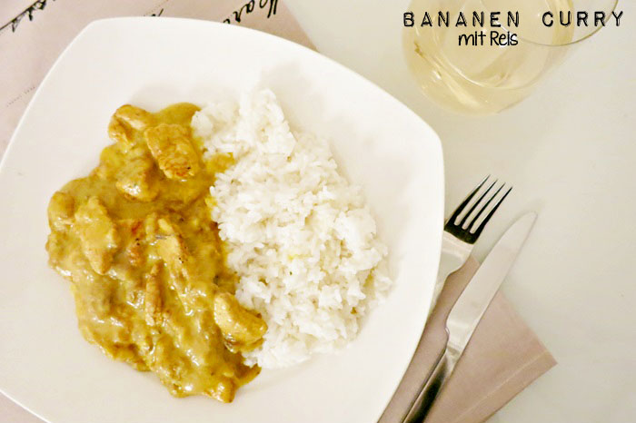 Indisches Bananen Curry mit Reis