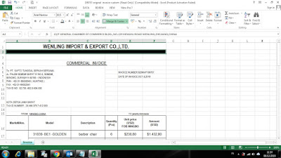 Contoh Invoice-Commercial Invoice Excel