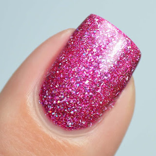 pink ultra holographic nail polish