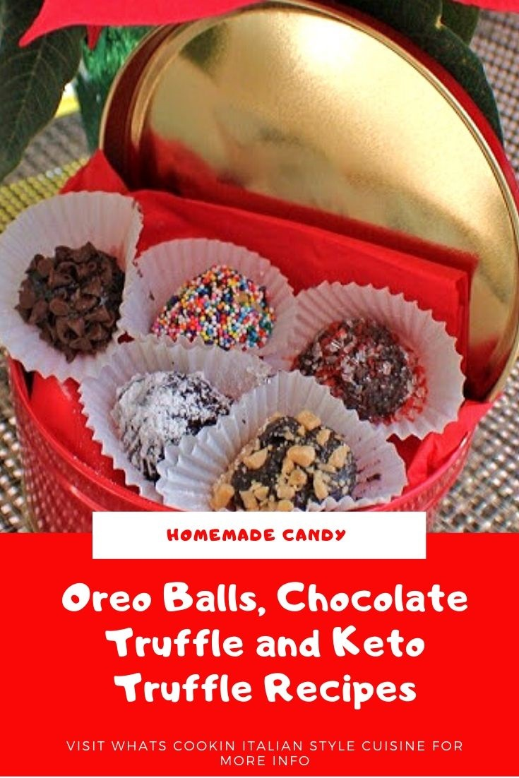 this is a pin for later photo of how to make homemade truffles to include keto style as well as regular candy