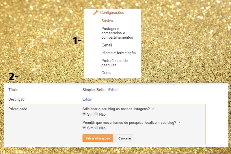 Configurações de SEO no blogger
