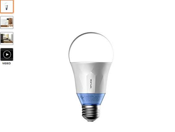 TP-Link Smart Wi-Fi A19 LED Bulb