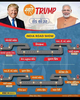 Jano Namaste Trump No Road Show Route Ahmedabad