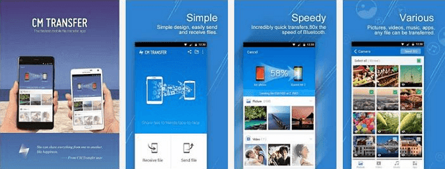 Aplikasi pengirim file android yang cepat