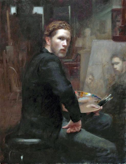 Joshua La Rock, Self Portrait, Portraits of Painters, Fine arts, Portraits of painters blog, Paintings of Joshua La Rock, Painter Joshua La Rock