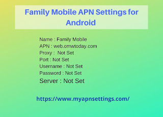 Family Mobile APN Settings for Android