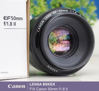 Harga Jual Lensa Canon 50mm f1.8 ii - Kelebihan - Kekurangan