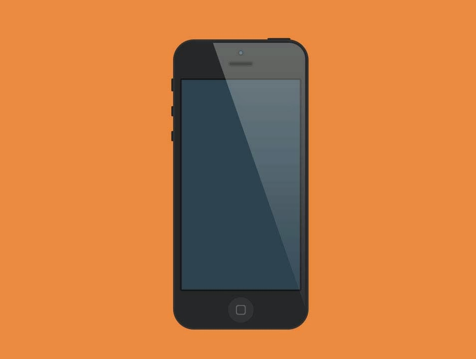 iPhone Black PSD Mockup