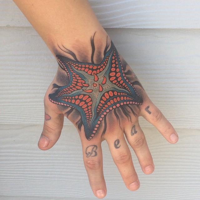 Tatuagens de estrela do mar