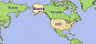 Alaska Neresi Rusya Amerika Harita