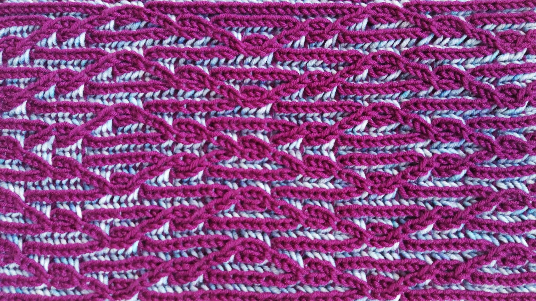 Briaran Scarf - Brioche Knitting