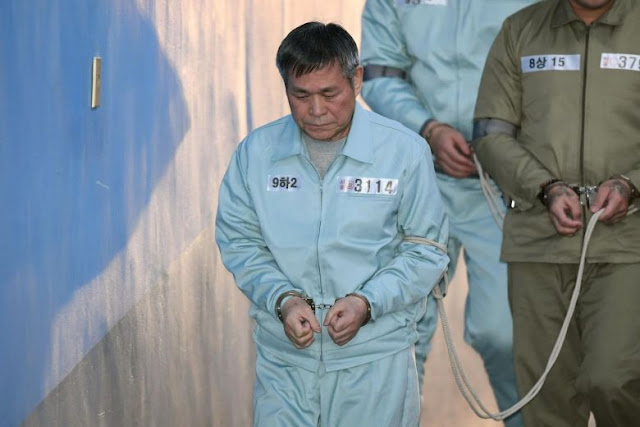 South Korean Pastor Lee Jae Rock, in chains