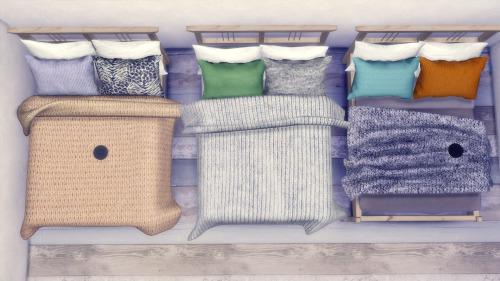My Sims 4 Blog Jonesi Blankets  LeeHee Pillow Recolors