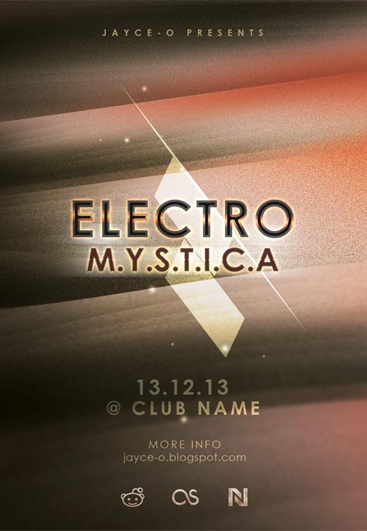 Free Flyer PSD Template: Electro Mystica - Jayce-o-Yesta
