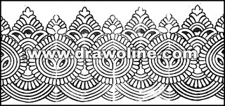 banarasi saree border design/pure banarasi border designs sketch/sadi ka kinara drawings