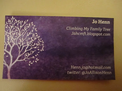 Climbing My Family Tree: My Calling Card