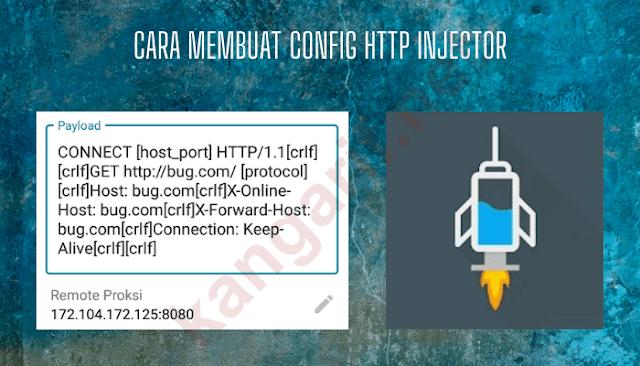 cara membuat config http injector untuk semua operator