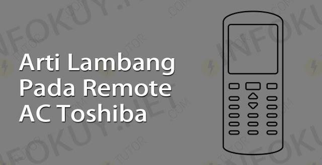 arti lambang pada remote ac toshiba