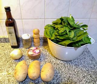 Guiso de espinacas y patatas