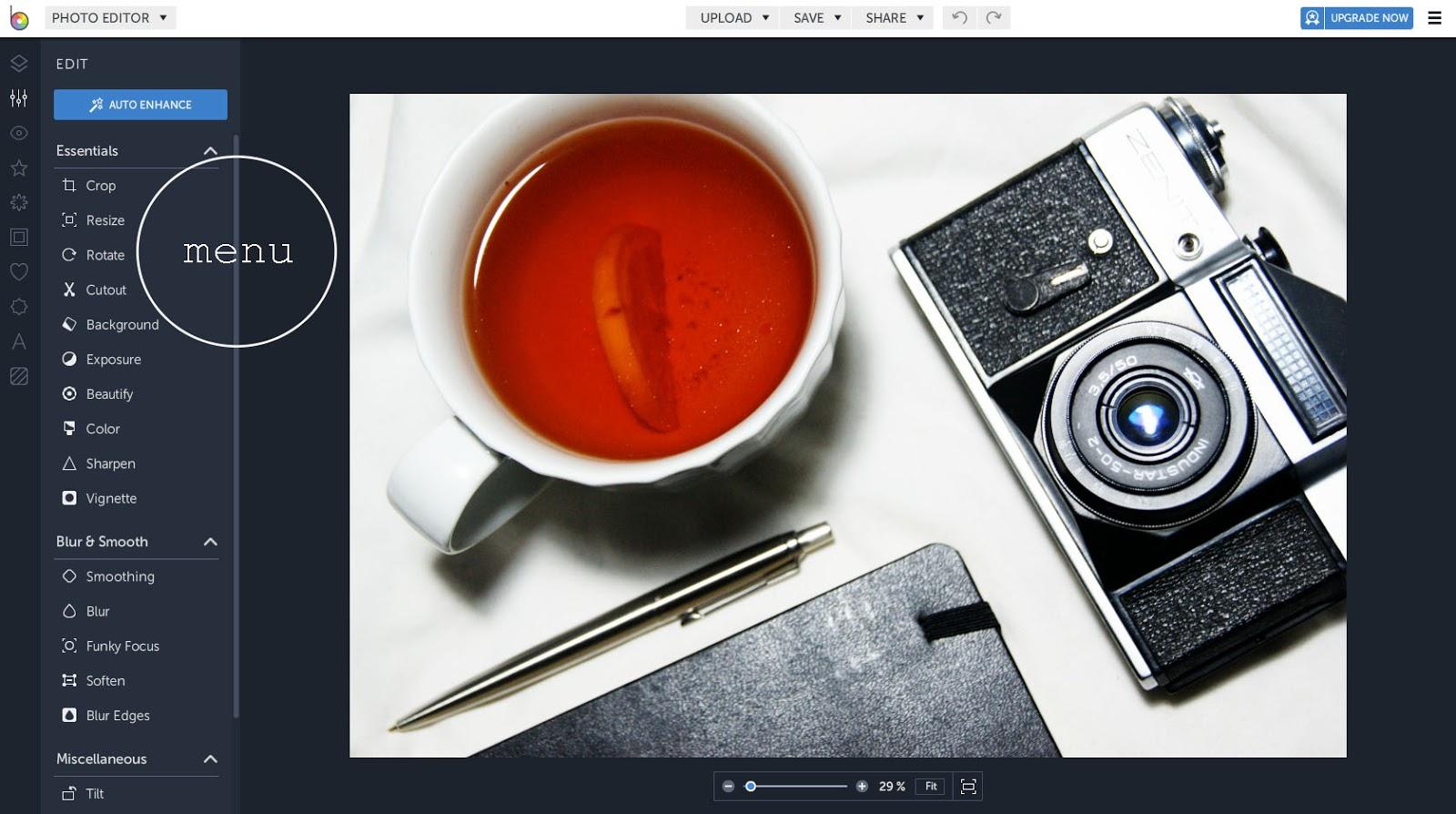 kwadratowe zdjęcia w programie online