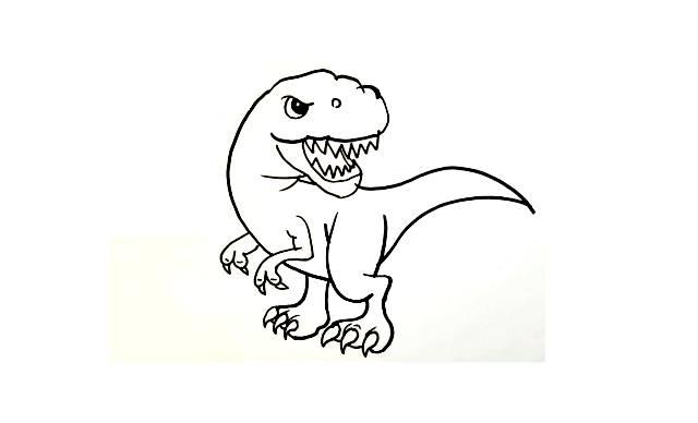 dibujos faciles dinosaurios colorear