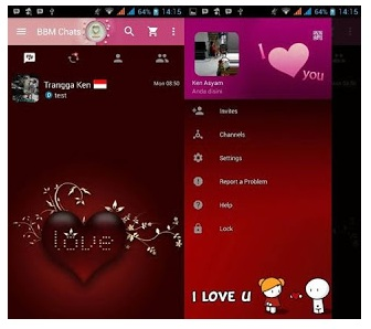 BBM Mod Love Theme -  Base Official v3.0.0.18 APK