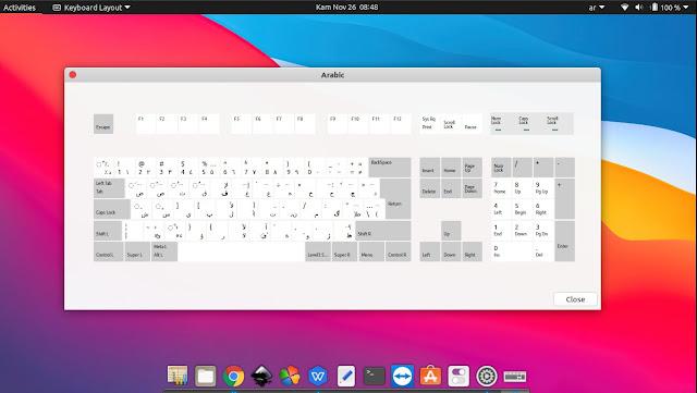 Tampilan Layout Keyboard Arab