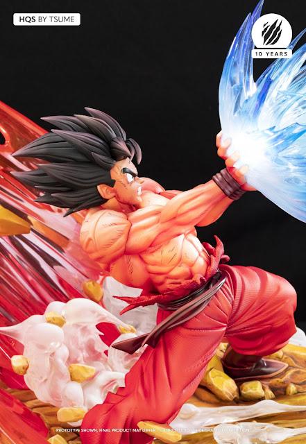 Impresionante figura de Dragon Ball Z: Son Goku Kaio-ken contra Vegeta Garlick Gun - Tsume-Art