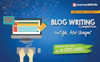 Kontes Blog SInarmas MSIG Life Berhadiah 6 juta