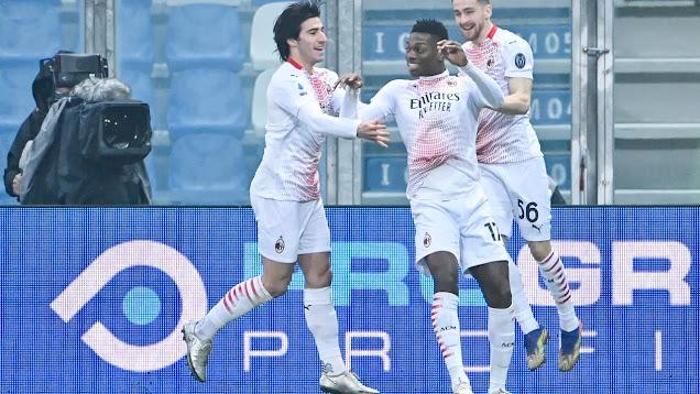 ملخص مباراة ميلان وساسولو (2-1) اليوم الاحد في الدوري الايطالي