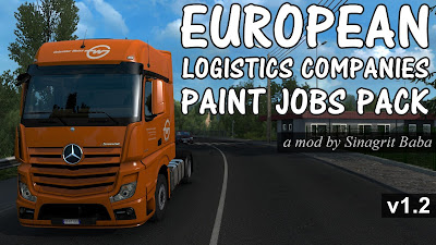 European Logistics Companies Paint Jobs Pack v1.2