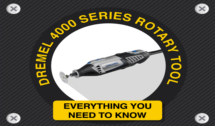 Every Thing You Need To Know About Dremel 4000 Series Rotary Tool #infographic
