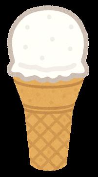 アイスクリームのイラスト(コーン2)