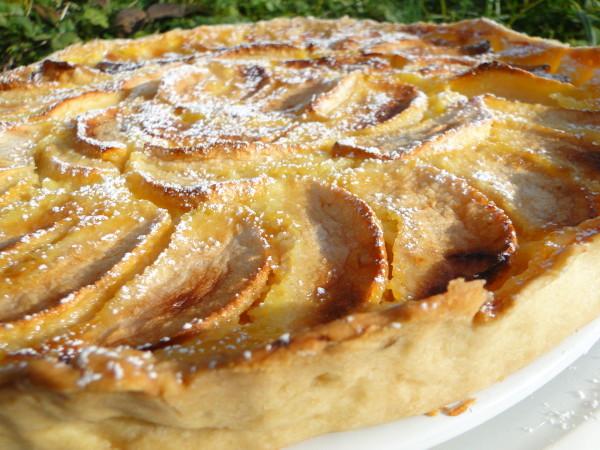 Recette Tarte crémeuse aux pommes