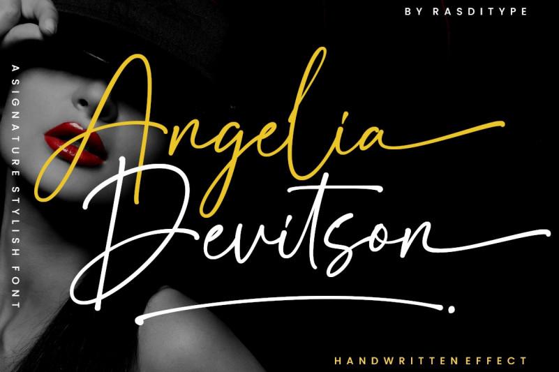 Angelia Devitson Handwritten Font