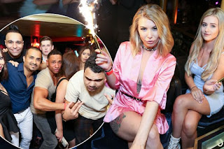 Olivia Buckland put on a sexy display as she flashed her assets on a wild night out  Love Island 's Olivia Buckland and Tina Stinnes are having the time of their lives now they're out of the villa.
