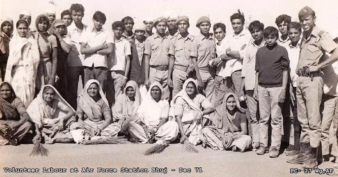 volunteers from Madhapar village