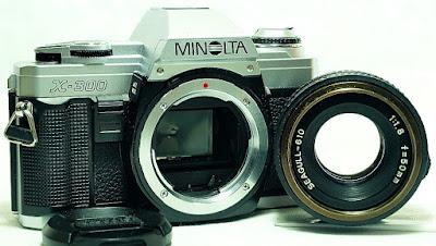 Minolta X-300 (Chrome) Body #347, Seagull-610 50mm 1:1.8 #332
