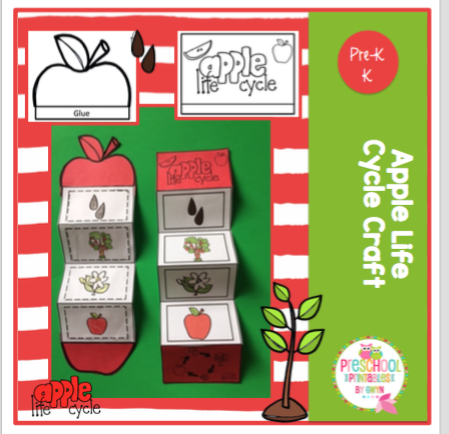 photo regarding Apple Life Cycle Printable referred to as Apple Everyday living Cycle Craft ~ Preschool Printables
