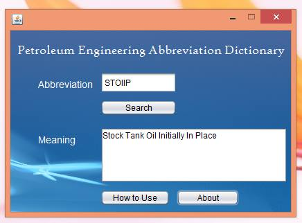 Petroleum Engineering Abbreviation Dictionary