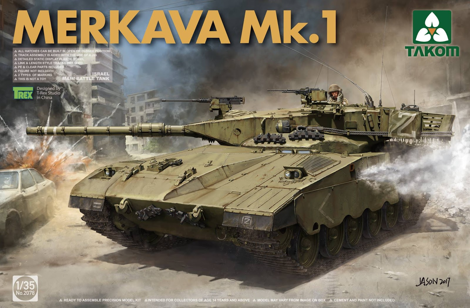 So now we see the start of what we hope is a whole family of merkava in 35th scale from takom we have some limited info on them in our